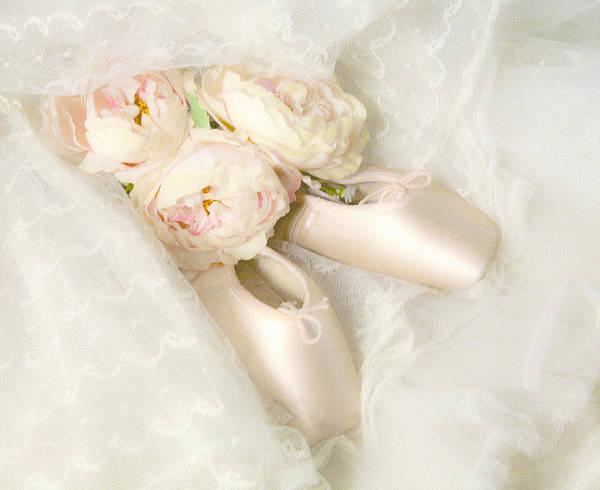 Shabby Chic Roses Wall Art - Photograph - Ballet Shoes by Theresa Tahara