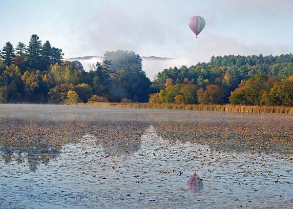 Balloon Rise At Dawn Art Print by Gloria Merritt
