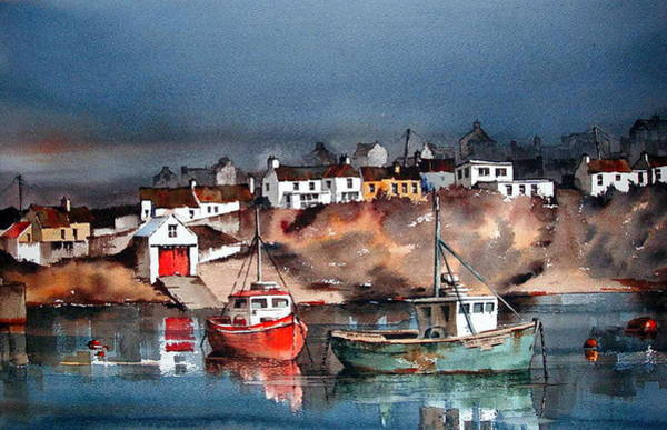Painting - Ballycotton Harbour East Cork by Val Byrne