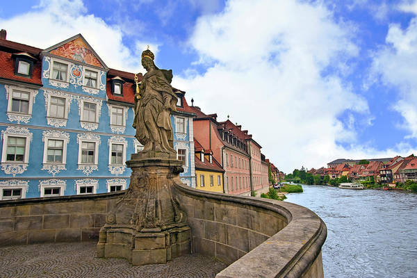 Rathaus Photograph - Bamberg, Germany, Bavaria, Queen by Miva Stock