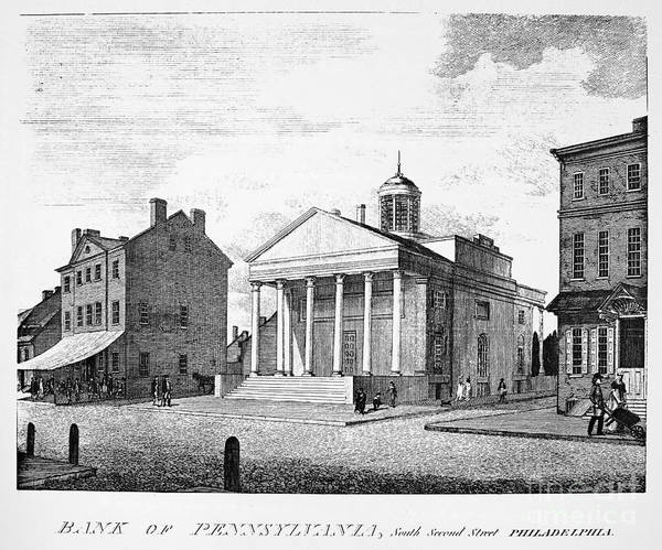Photograph - Bank Of Pennsylvania, 1800 by Granger