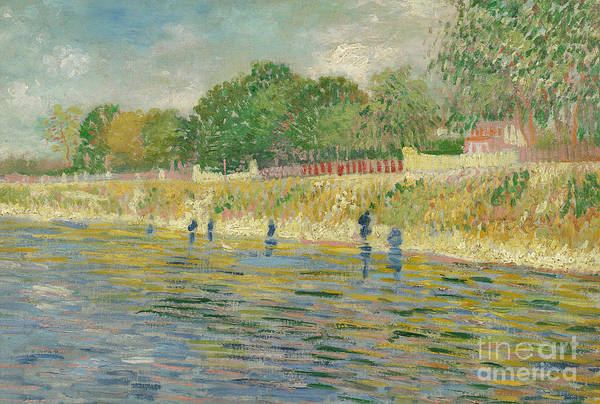 River Seine Painting - Bank Of The Seine by Vincent van Gogh