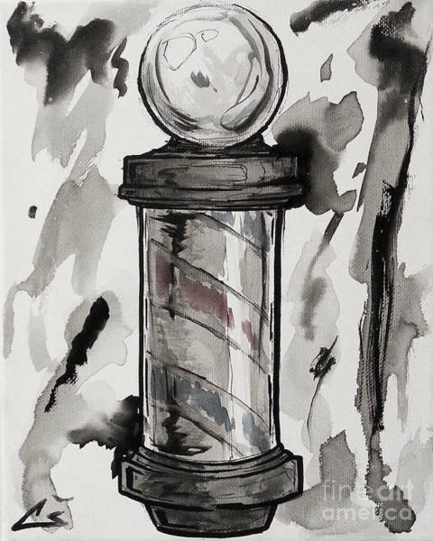 Clipper Wall Art - Painting - Barber Pole by Shop Aethetiks
