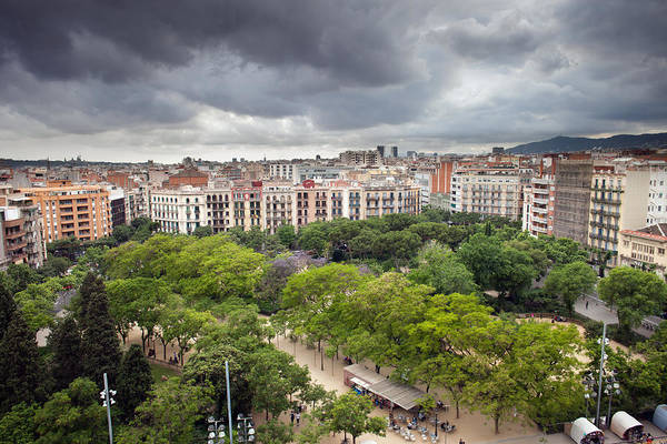 Tenement Photograph - Barcelona Cityscape by Artur Bogacki