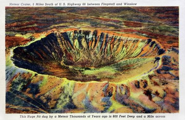 Meteor Crater Photograph - Barringer Crater by Detlev Van Ravenswaay/science Photo Library
