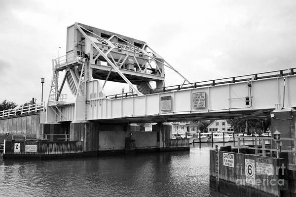 Photograph - Bascule Bridge At Knapps Narrows On Tilghman Island In Maryland by William Kuta