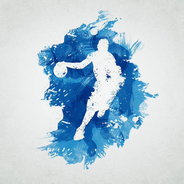 Digital Paint Digital Art - Basketball Player by Aged Pixel