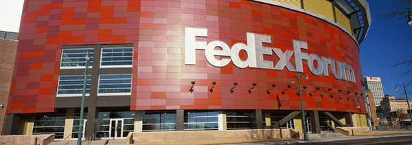 Wall Art - Photograph - Basketball Stadium In The City, Fedex by Panoramic Images