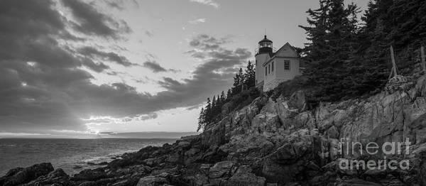 Printing Photograph - Bass Harbor Head Light Sunset  by Michael Ver Sprill