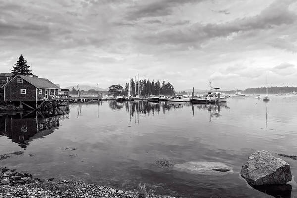 Photograph - Bass Harbor In The Morning Fog by John M Bailey