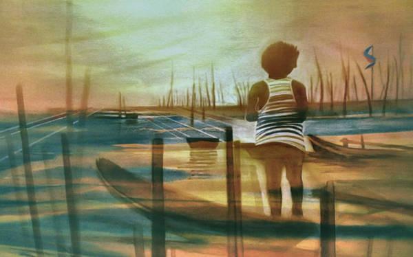 Painting - Batang Pinoy 1980 by Glenn Bautista