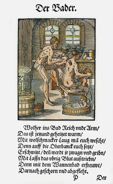Sponge Painting - Bathhouse Proprietor, 1568 by Granger