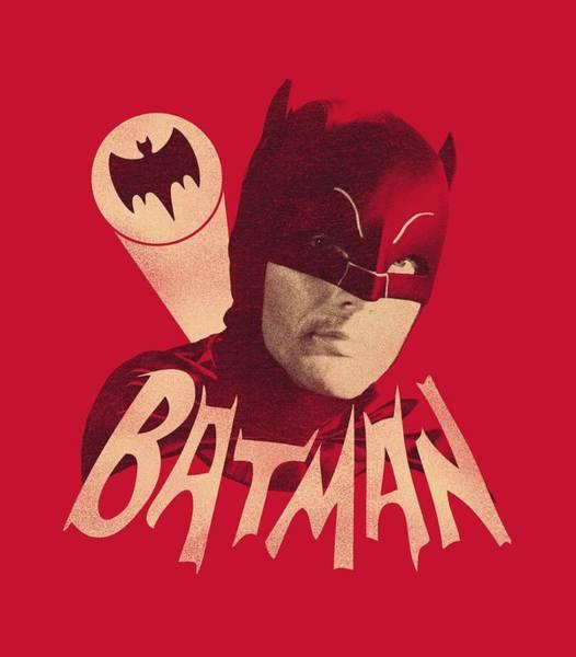 Batman Digital Art - Batman Classic Tv - Bat Signal by Brand A