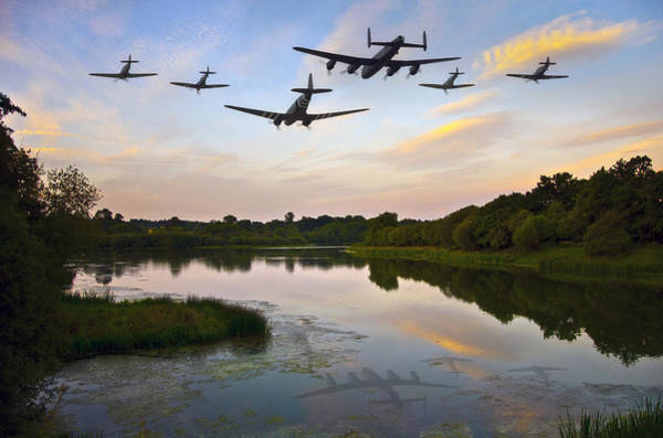 Flyby Photograph - Battle Of Britain Memorial Flight  by Jason Green