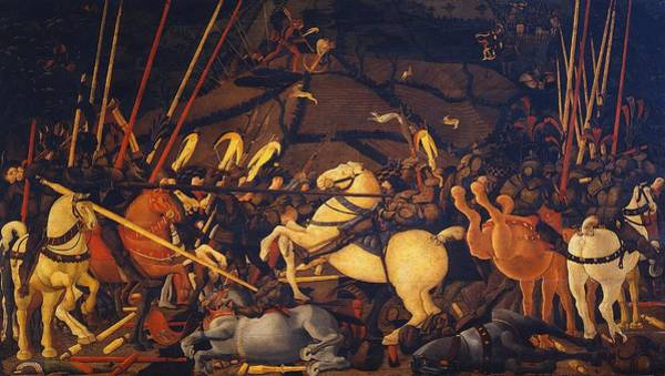 Galleria Painting - Battle Of San Romano by Paolo Uccello