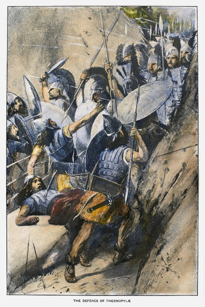 Wall Art - Drawing - Battle Of Thermopylae by Granger