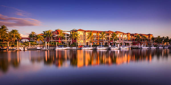 Photograph - Bay Resort Naples Florida by Hans- Juergen Leschmann
