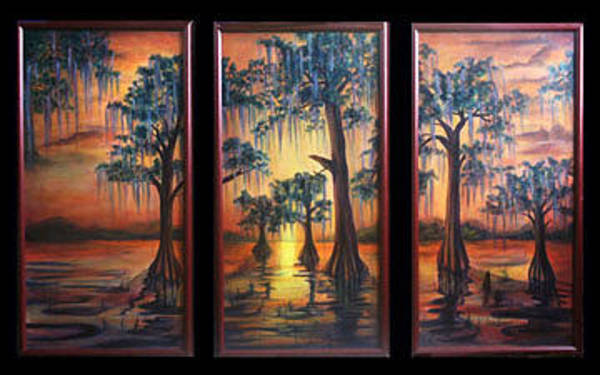 Painting - Bayou Sunset by Thomas Lupari
