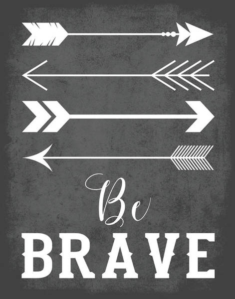 Kid Wall Art - Painting - Be Brave by Tamara Robinson