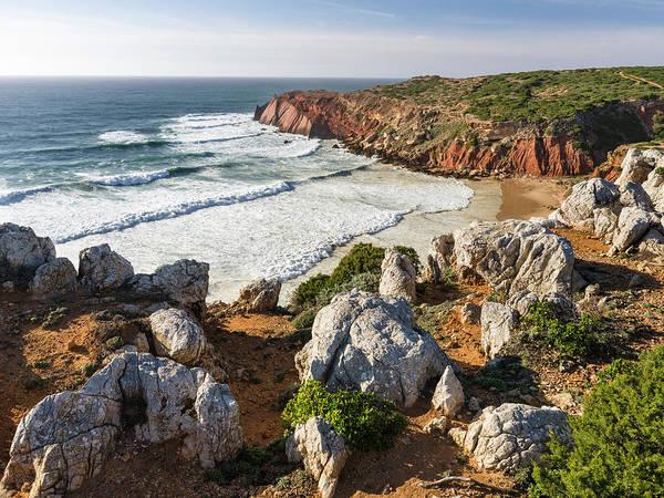 Sagre Wall Art - Photograph - Beach And Cliffs At Praia Do Telheiro by Martin Zwick
