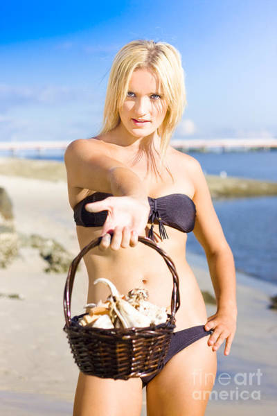 Babe Photograph - Beach Flirt by Jorgo Photography - Wall Art Gallery