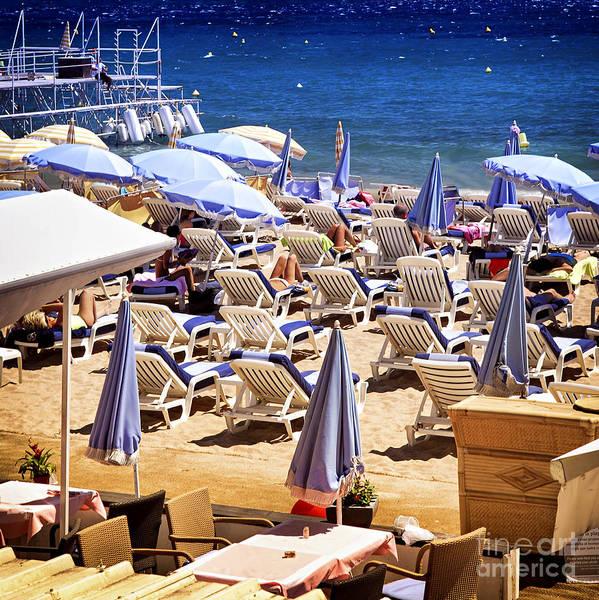 Wall Art - Photograph - Beach In Cannes by Elena Elisseeva