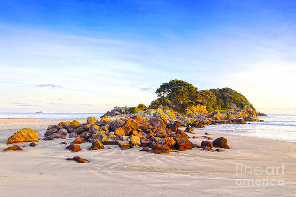 Low Tides Photograph - Beach Mount Maunganui New Zealand by Colin and Linda McKie