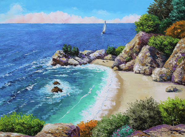 Wall Art - Painting - Beach Of The Cove by MGL Meiklejohn Graphics Licensing