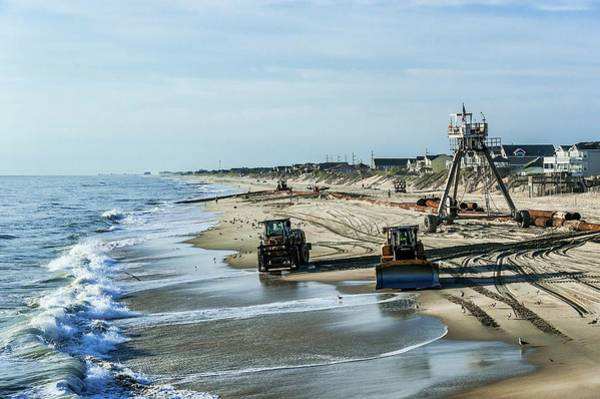 Wall Art - Photograph - Beach Restoration Project by John Greim/science Photo Library