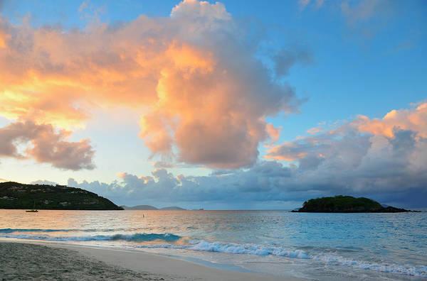 Photograph - Beach Sunset by Songquan Deng
