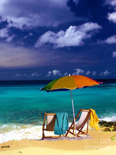 Photograph - Beach Umbrella by Susanne Van Hulst