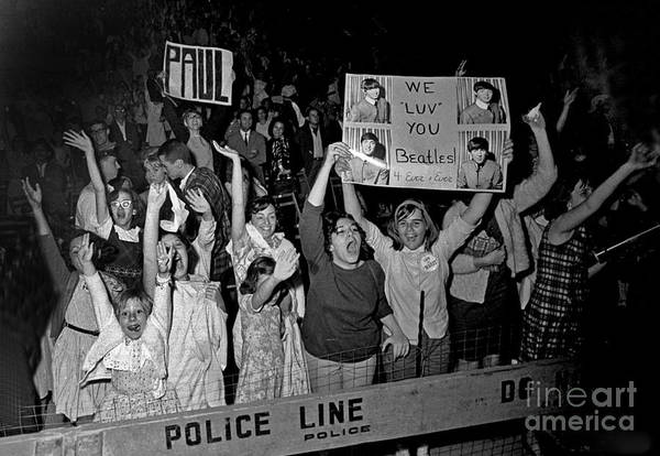 Sentimentality Photograph - Beatles Fans At Concert, 1964 by Larry Mulvehill