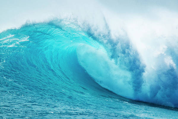 Wall Art - Photograph - Beautiful Blue Ocean Wave by Design Pics Vibe