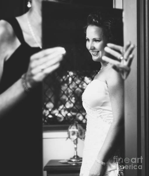 Honour Wall Art - Photograph - Beautiful Bride Getting Ready In Wedding Dress by Jorgo Photography - Wall Art Gallery