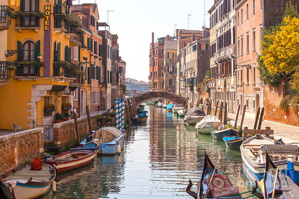 Wall Art - Photograph - Beautiful Canal In Venice by Patricia Hofmeester