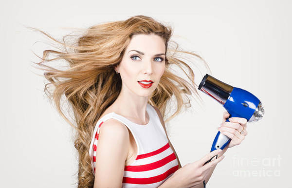 Photograph - Beautiful Model Hair Styling Long Red Hairstyle by Jorgo Photography - Wall Art Gallery
