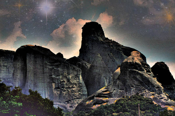 Planets And Moons Digital Art -  Mountains by Augusta Stylianou