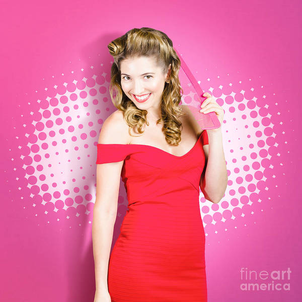Hairstyle Photograph - Beautiful Retro Woman. Salon Hairstyle Pin-ups by Jorgo Photography - Wall Art Gallery