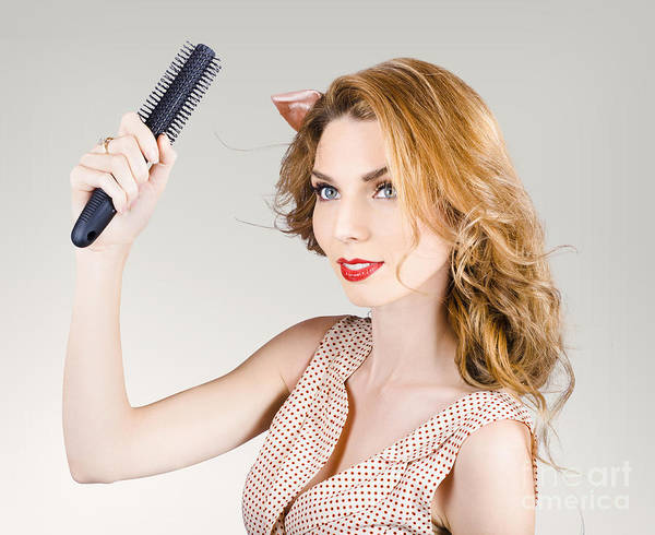 Beauty Salon Photograph - Beautiful Woman With Red Hair. Beauty Salon Model by Jorgo Photography - Wall Art Gallery