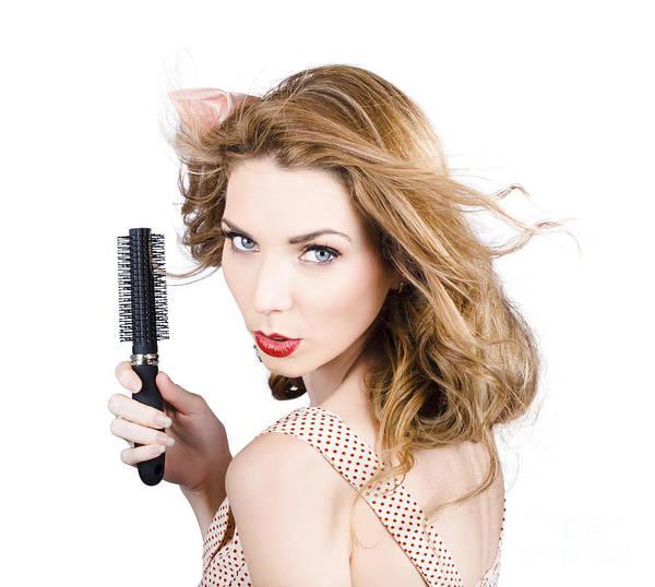 Hair Stylist Wall Art - Photograph - Beauty Model Portrait. Brunette Hair Style Woman by Jorgo Photography - Wall Art Gallery