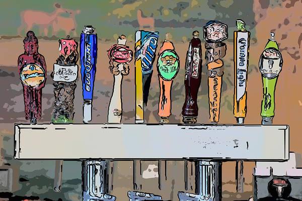 Wall Art - Photograph - Beer Taps 2 Duval Street Key West Pop Art Style by Ian Monk