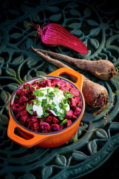 Beetroot Wall Art - Photograph - Beetroot With A Garnish by Aberration Films Ltd