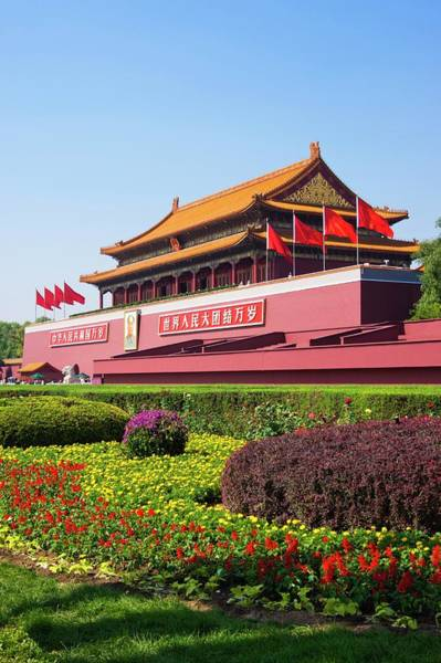 Forbidden City Photograph - Beijing Forbidden City. by Mark Williamson/science Photo Library