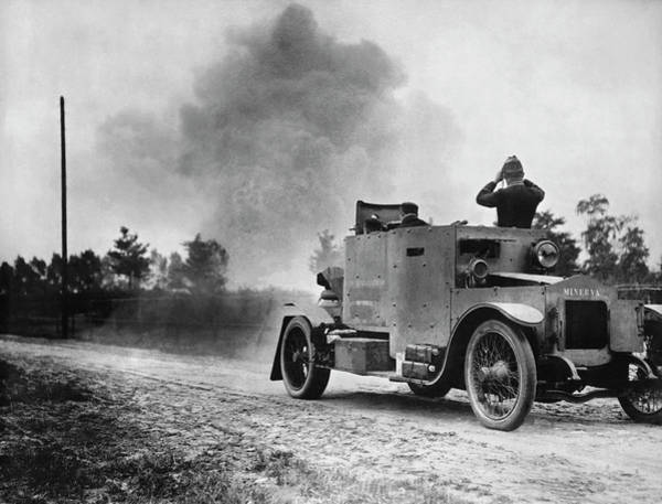 Photograph - Belgian Armored Car by Underwood Archives