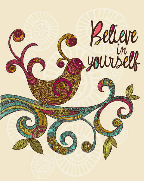 Digital Illustration Photograph - Believe In Yourself by Valentina Ramos