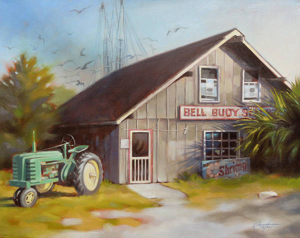 South Beach Painting - Bell Buoy by Todd Baxter