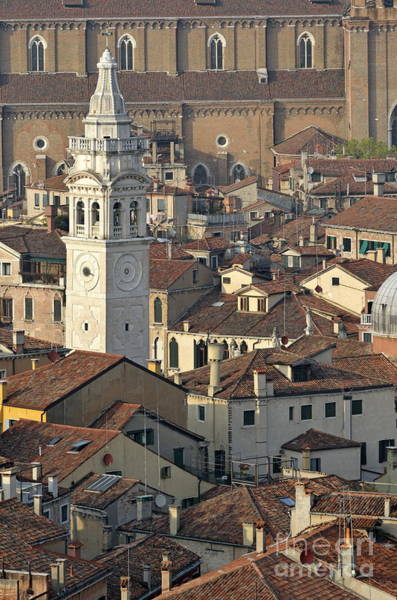Wall Art - Photograph - Bell Tower Of Santa Maria Formosa And Red Tiled Roofs by Sami Sarkis