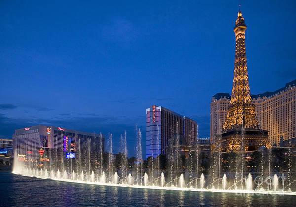 Photograph - Bellagio Fountains by Jim West