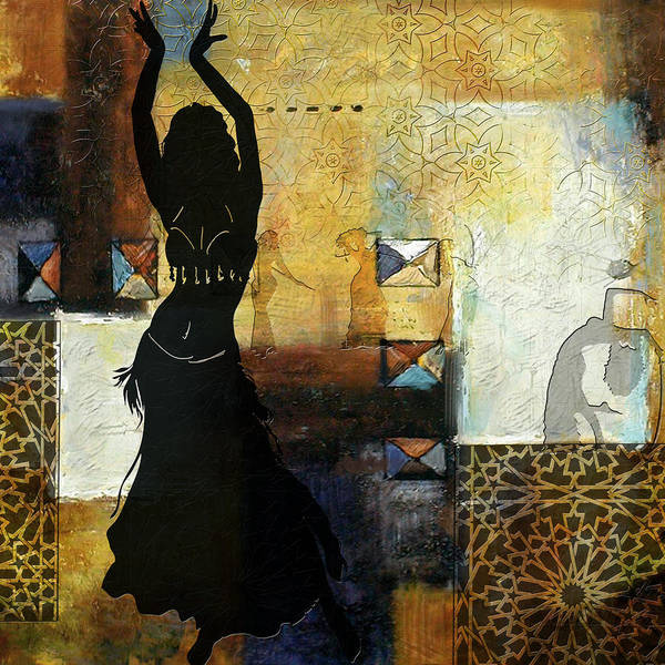 Belly Dance Painting - Abstract Belly Dancer 8 by Corporate Art Task Force