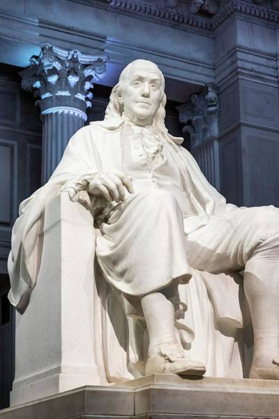 Declaration Of Independence Photograph - Benjamin Franklin by John Greim/science Photo Library
